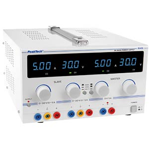 Laboratory power supply 0 - 30 V/0 - 5 A DC PEAKTECH 6145