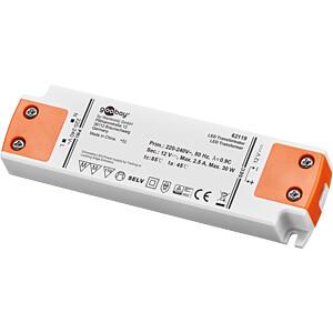 LED-Trafo, 30 W, 12 V, 2500 mA GOOBAY 62119