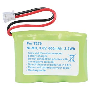 Cordless phone battery, NiMH, 3,6 V, 600 mAh FREI