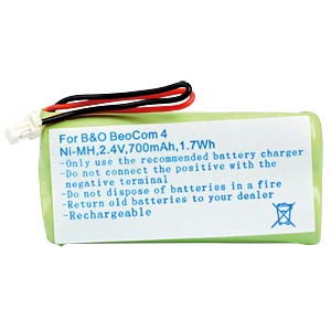 Cordless phone battery, NiMH, 2,4 V, 700 mAh FREI