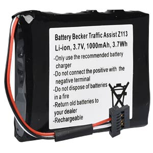 GPS Navigations-Akku für Becker Traffic Assist, 1000 mAh FREI