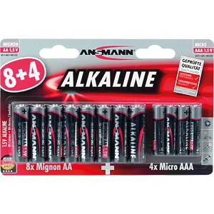 Red, alkalinebatterij, verpakking van 12 ANSMANN 1510-0011