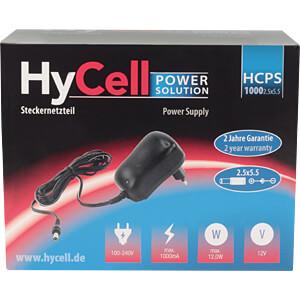 Steckernetzteil, 12 W, 12 V, 1 A, stabilisiert, 2,5 mm DC HYCELL 1201-0017