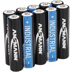 Lithium Zelle, AAA (Micro), 1200 mAh, 10er-Pack ANSMANN 1501-0010