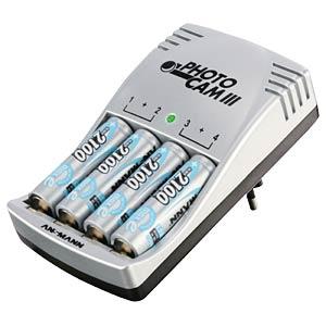 Ladegerät PhotoCam III, NiMH, NiCd, für Micro- und Mignon-Akkus ANSMANN 5117003
