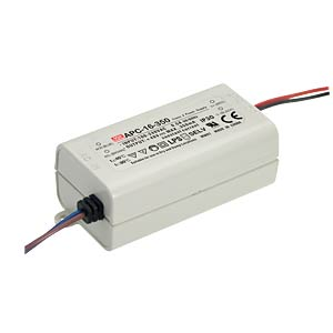 Power supply 12-48 V, 350 mA MEANWELL APC-16-350