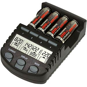 Microprocessor-controlled quick charger with batteries TECHNOLINE