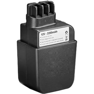 Replacement battery for METABO devices, 12 V, 2000 mAh FREI