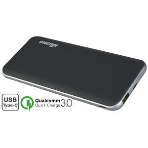 Powerbank, Li-Po, 10000 mAh, USB-C, QC3.0 CABSTONE 71021