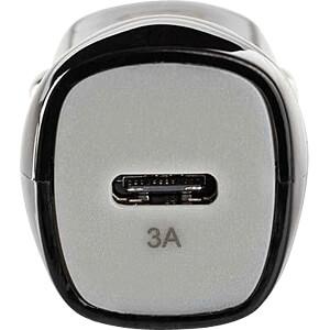 USB-Ladegerät, 5 V, 3 A, Kfz, USB-C, schwarz NEDIS CCHAC301ABK