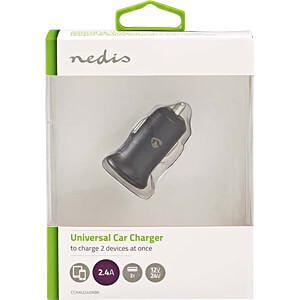USB-Ladegerät, 5 V, 2,4 A, Kfz, schwarz NEDIS CCHAU240ABK