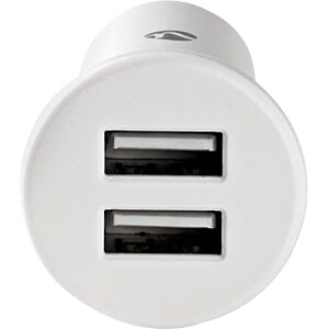 USB-oplader, 5 V, 2,4 A, auto, wit NEDIS CCHAU240AWT
