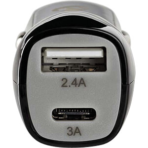 USB-Ladegerät, 5 V, 3,4 A, Kfz, USB-C, schwarz NEDIS CCHAU340ABK