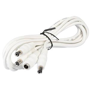 dc splitter, 1xjack-3xplug, 2,1mm, white BKL 072957