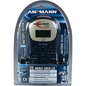 Capacity tester for rechargeable batteries and batteries. ANSMANN 40000392