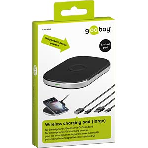 Wireless charging pad (large) GOOBAY 44168