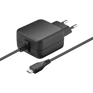 MicroUSB power supply unit, black, 2500 mA GOOBAY 71889