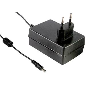Plug-in power supply 25W, 48 V / 0,52 A MEANWELL GST25E48-P1J