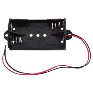 Batteriehalter für 2 Mignonzellen (AA) mit Anschlusskabel FREI