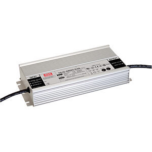 LED-Trafo, 480 W, 24 V DC, 20 A, IP67 MEANWELL HLG-480H-24