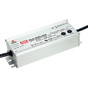 LED-SNT,IP65,70W,100-200V/350mA MEANWELL HLG-60H-C350A
