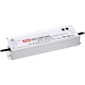 LED power supply, IP65, 89 W,128 - 257 V/350 mA MEANWELL HLG-80H-C350A