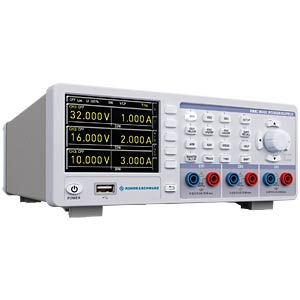 3-channel power supply — 0 - 32 V, max. 3 A, 100 W, GPIB ROHDE & SCHWARZ 28-8043-RS0G