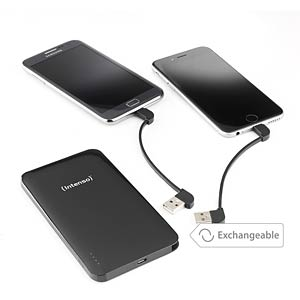 Intenso Powerbank, 5000 mAh, Slim, zw, iDual INTENSO 7335520