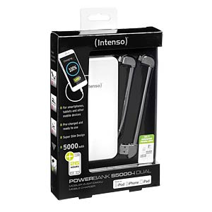 Intenso Powerbank, 5000 mAh, Slim, ws, iDual INTENSO 7335522