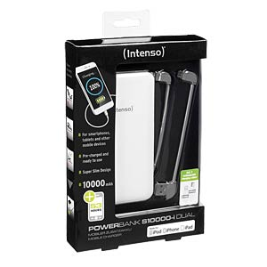 Intenso Powerbank, 10.000 mAh, Slim, ws, iDual INTENSO 7335532