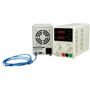 Laboratory compact power supply unit 0 - 60 V DC/0 - 5 A DC USB KORAD KD6005P