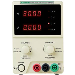 Laboratory compact power supply unit 0 - 60 V DC/0 - 5 A DC KORAD KD6005D