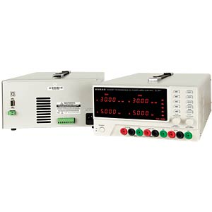 3-channel laboratory power supply unit, 0 - 30 V DC/0 - 5 A DC, KORAD KA3305P