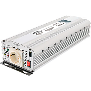 Wechselrichter, modifizierte Sinuswelle, 1500 W, Schutzkontakt KÖNIG KN-INV1500W24