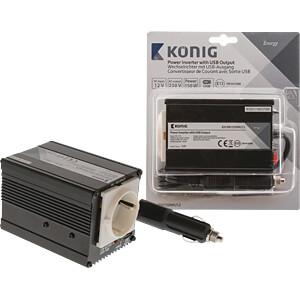 Wechselrichter, modifizierte Sinuswelle, 150 W, Schutzkontakt KÖNIG KN-INV150WU12