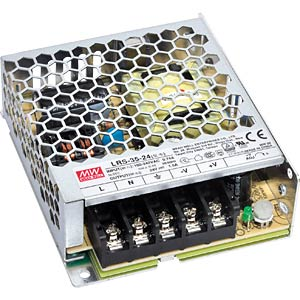 switching power supply, 23,1 W, 7,0 A, 3,3 V MEANWELL RS-35-3.3