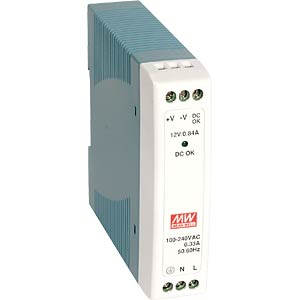 switching power supply, DIN-Schiene, 10 W, 15 V / 0,67 A MEANWELL MDR-10-15