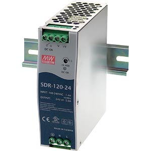 switching power supply, DIN-Schiene, 120 W, 48 V / 2,5 A MEANWELL SDR-120-48