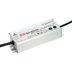 LED-Trafo, 40 W, 12 V DC, 3330 mA, dimmbar, 3-in-1 MEANWELL HLG-40H-12B