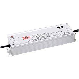 Led-schakelvoeding, 150 W, 12 V, 12,5 A, IP67 MEANWELL HLG-150H-12