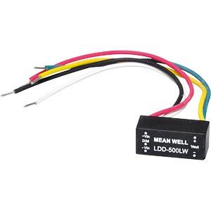 LED-Trafo, 2 - 30 V, 1200 mA, mit Litzen MEANWELL LDD-1200LW