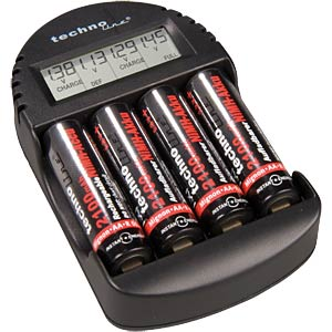 Microprocessor-controlled quick charger with batteries TECHNOLINE BC 250 SET