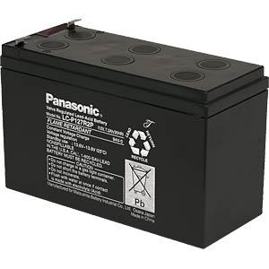 Onderhoudsvrije lood-vliesaccu, 7,2Ah, 12V, Longlife PANASONIC LC-P127R2P1