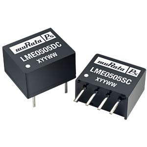 DC/DC converter, LME series, 0.25 W, 5 V DC, SIP, single MURATA POWER SOLUTIONS LME0505SC