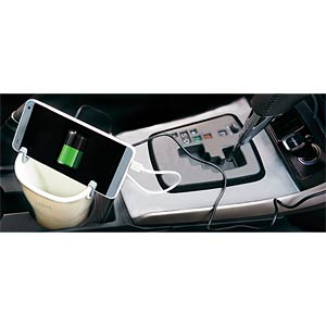 Charger + car cup holder for smartphones LOGILINK PA0105