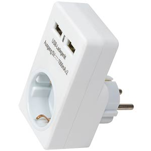 LogiLink® USB socket adapter, 2x USB LOGILINK PA0112