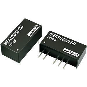 DC/DC Converter MEA-series 1W, 5V/-5V DC, SIP, Dual out MURATA POWER SOLUTIONS MEA1D1205SC
