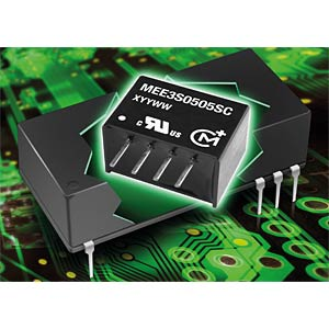 DC/DC converter MEE3 series, 3 W, 12 V DC, SIP, single MURATA POWER SOLUTIONS MEE3S0512SC