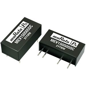 DC/DC converter MEV1 series 1 W, 15 V DC, SIP, single MURATA POWER SOLUTIONS MEV1S1215SC