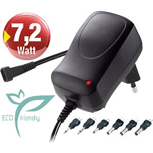 ECO-friendly plug-in power supply, max. 600 mA + USB MINWA MW3N06GS